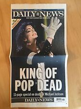 New York Daily News June 26, 2009 Michael Jackson Death Newspaper