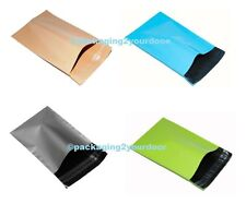 50 Mixed SP3 Pack Beige Baby Blue Silver Neon Green Strong Mailing Postage Bags