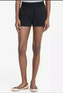 J.Crew Women's  Shorts Floral Jacquard Pull-on Boardwalk Black Size 14
