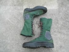 Guerre Indochine Rare Paire de Bottes Jungle Toile Fabrication Malaisie