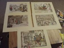 Vintage Anton Peck Street Winter Scenes - 5 different prints 1970