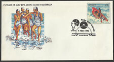 AUSTRALIA 1981 SURF LIFE SAVING PSE Pre Stamped BONDI BEACH First Day Pmk.