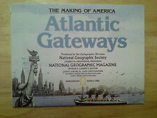 National Geographic Map The Making of Americia Atlantic Gateways March 1983
