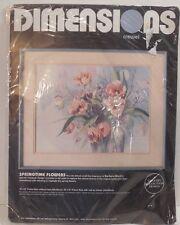 Springtime Flowers Embroidery Kit Barbara Mock Dimensions Gallery Designs 1337