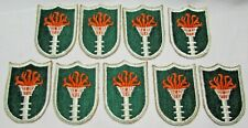 9 Korean War US Army Communication Zone Combat Torch Cloth Embroidered Patch