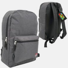 "Nintendo 17"" Solid Gray SUPER MARIO BROS Padded Backpack School Book bag NEW"