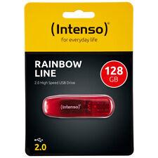 kQ Intenso Rainbow Line Stick 128 GB USB 2.0 Speicherstick 128GB rot