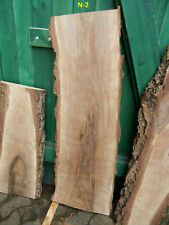 N2 NUSSBAUM WALNUSS 131x46 Holz Bohle Brett WaschTisch Platte Rustikal Nuss Bank