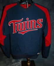 Minnesota Twins STITCHES Mens Small PULLOVER WARMUP JACKET Embroidered Sewn logo
