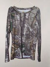 Carhartt Youth Lg 12 Camouflage Shirt Long Sleeve Real Tree Force Hunt Outdoors