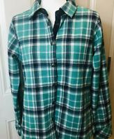 Womens ORVIS Shirt Jacket Flannel CHECK blue Med