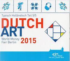 SERIE EURO BRILLANT UNIVERSEL (BU) - PAYS-BAS 2015 WORLD MONEY FAIR