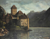 Chillon Castle Gustave Courbet Fine Art Painting Print on Canvas Giclee Decor SM