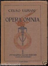Celso Ulpiani OPERA OMNIA Vol 2 1928 libro chimica biologia agraria biochimica