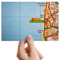 "Photograph 6x4""  - Blackpool England Travel UK GB Map  #44325"