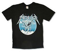 Metallica Ice Skull Image Black T Shirt New Official