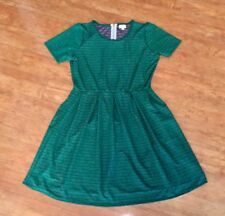 NWT 3XL Lularoe FOREST Emerald GREEN Print AMELIA Dress Stretch FREE SHIP!