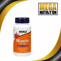 NOW Foods Niacin Timed Release 500mg 100 Tablets | Vitamin B3 Energy Production