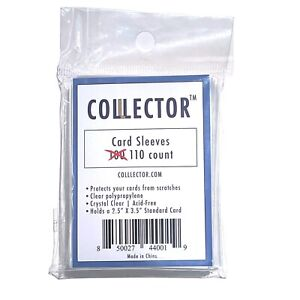 110 Penny Sleeves Trading Card Protectors By Colllector
