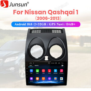 For Nissan Qashqai J10 2006 Android 10.0 BT Car Stereo Radio Sat Nav GPS WIFI