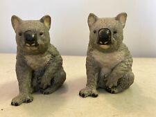 Pair of Royal Heritage Porcelain Koala Bear Sitting Figurines 4-1/2� x 4�