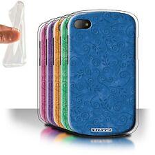 STUFF4 Gel/TPU Case/Cover for Blackberry Q10/Swirl Leaf Pattern