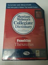 New Websters Dictionary & Franklin Thesaurus Media / Palm Pda