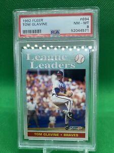 1992 Fleer #694 Tom Glavine PSA 8 Atlanta Braves