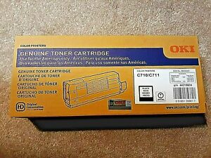 GENUINE Okidata 44318604  Black Toner For C710/ C711 color printers (NEW SEALED)