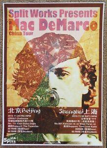 MAC DEMARCO 2013 Gig POSTER China Concert Beijing & Shanghai