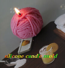 JM Ball of yarn shape silicone candle mold 3D silicone soap molds silicone molds