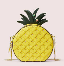 Kate Spade picnic pineapple Ladybug Leather crossbody Clutch ~NWT~ Yellow