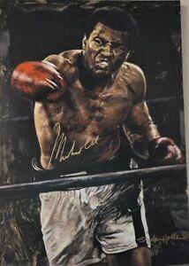 MUHAMMAD ALI Signed Stephen Holland 28x41 Giclee Canvas RARE OA