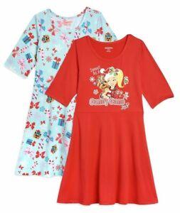 NEW Jojo Siwa Girls Holiday 3/4 Sleeve Dress, 2-Pack, Choose your Size
