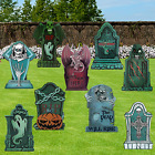 """9PCS Halloween Decorations Yard Signs Outdoor, 15.75"""" Tall Corrugate Tombstones"""