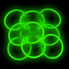 "100 8"" Glow Sticks Light Bracelets SUPER BRIGHT GREEN"