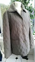 Oxford Blue, Green Quilted  Jacket Coat  size Large. Very Good Condition