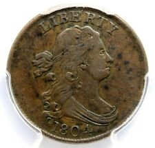 1804 DRAPED BUST 1/2C, PCGS XF 40, CROSSLET 4, STEMS