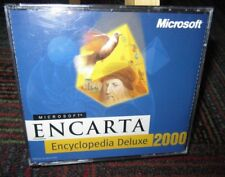 MICROSOFT ENCARTA 2000 DELUXE ENCYCLOPEDIA LIBRARY 3-DISC PC CD-ROM SET WINDOWS