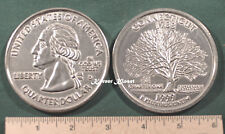 """Big 3"""" Inch Metal Coin Replica of a 1999 Connecticul State Quarter - Paperweight"""