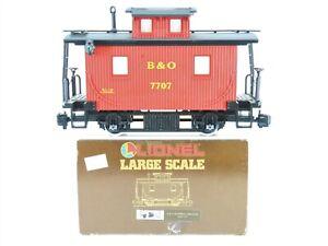 G Scale Lionel 8-87707 B&O Baltimore & Ohio Bobber Caboose #7707