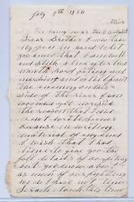 Civil War Letter by Thomas Melhinch 60th NY Inf. Co. H, Chattahoochee River 1864