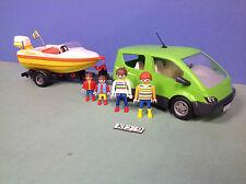 (K29) playmobil voiture monospace + bateau édition limitée ref 4144