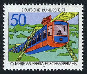Germany 1210, MNH. Wuppertal suspension railroad, 75th anniv. 1976