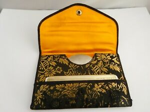 SUPERB 1920'S AMERICAN STERLING SILVER COMB & MIRROR FLAPPER BAG VANITY POUCH