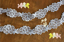 2 METRES x 3.5 cm Wide Beautiful White Venise Lace Trim. Makes lovely appliques.