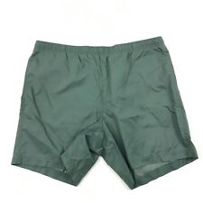 VINTAGE Swim Shorts Mens Size XL NYLON Trunks Swimsuit Colorblock Gray Green 90s