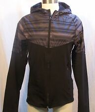 Nike Fanatic Women's Running Jacket Small Black Brown NWOT