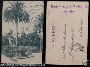 1958.-VALENCIA -1004 Plaza del Pricipe Alfonso 1902 Tarjeta Postal sin División