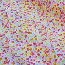 BIANCO 100% poplin tessuto di cotone con colori CANDY minuscoli Fiori * per metro *